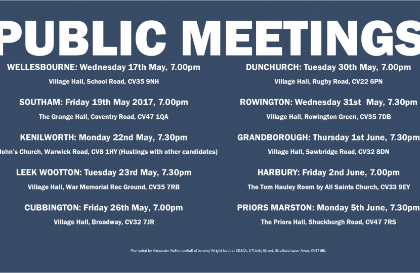 Public meetings are being held across the constituency